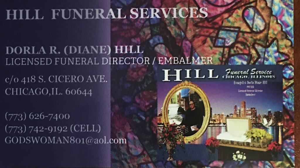 HILL FUNERAL SERVICES - funeral home  | Photo 8 of 10 | Address: HILL FUNERAL SERVICES c/o > 418, S Cicero Ave, Chicago, IL 60644, USA | Phone: (773) 626-7400